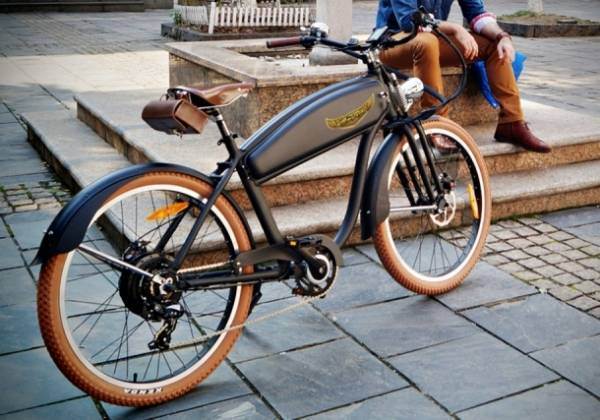 Electric Bicycle: Ariel Rider Retro style model