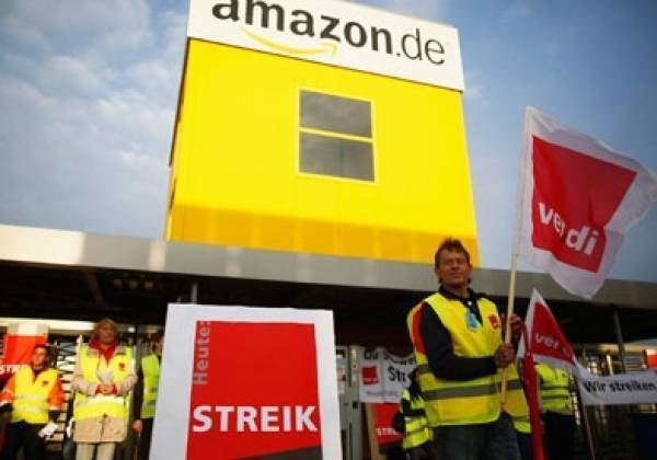 Verdi calls Amazon workers out on strike