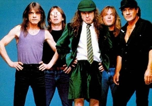 AC DC including new singer Brian Johnson